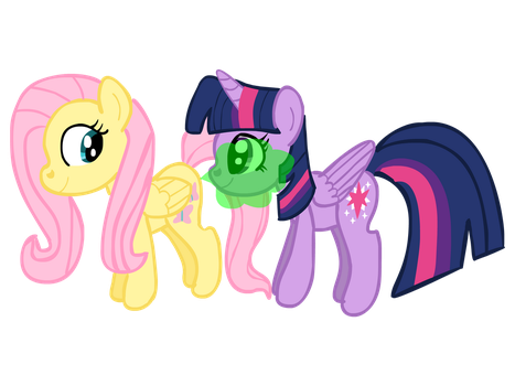Fluttershy Rips one on Twilight's face by ASCToons
