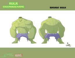 Savage Hulk Turnaround by artofjared