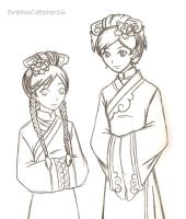 :Infiltration: Toph and Katara by DreamCatcher16