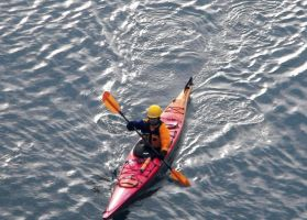 Lone Kayaker by Photos-By-Michelle
