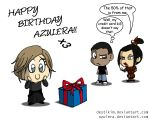Azulera's birthday by Niban-Destikim