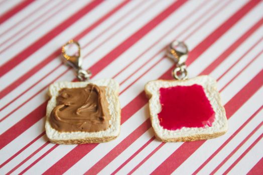 polymer clay best friend PB and J charms by l337Jacqui