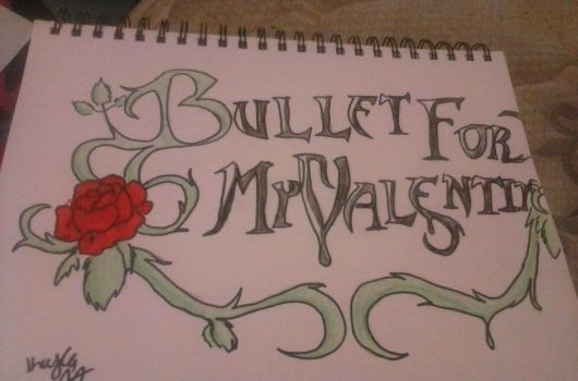 Bullet for my Valentine logo drawing  by davelovergirlsonic