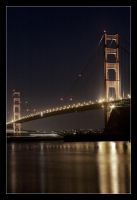Golden Gate at night by pdpardue