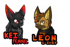 Kei and Leon badges by AstraIKitsune