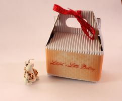 Little bunny with his packaging by LitefootsLilBestiary