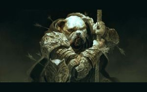Bulldog by DavidRapozaArt