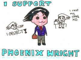 Phoenix Wright, Ace Attourney by bright-as-a-button