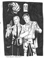James Bond/Doctor Who: 50 Years by TEhopefulcomicartist