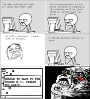 RAGE COMIC: Tech Class by dawnleapord