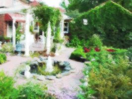 Garden Landscape Oil Painting by skcin7
