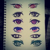 eye doodles by AngelxUndercover