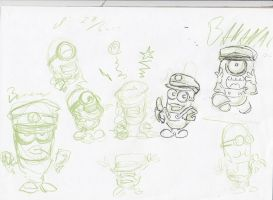Despicable Me - Minion -Fanart sketches for a gift by TolkyJr