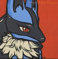 Pop Art Pokemon: Lucario by MandarinSwift