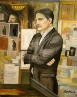John Reese in the Library by Schnellart