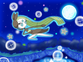 Meloetta in the Sparkling Recital by LaahGata
