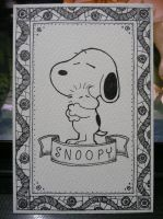 Snoopy Post Card by Vanguardias