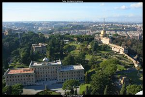 Papal Gardens in January by HerrDrayer