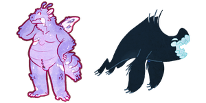 wingle wangle monster critters by VCR-WOLFE