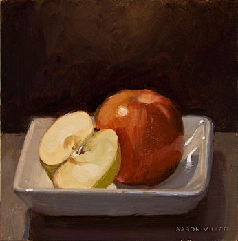 Apples in a White Dish by AaronMiller