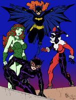 Batgirl And Company By Dogsupreme by SickSean
