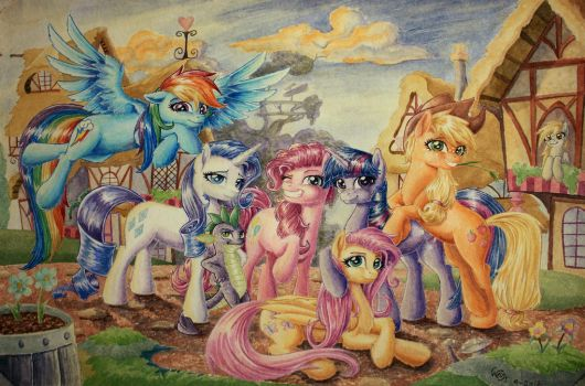 Sorcerous Camaraderie by The-Wizard-of-Art