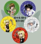 DEATH NOTE buttons design by Kairek