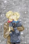 -::kiss in the snow::- by Lime-Inoue