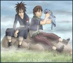 Hashirama and Madara: Masters young. by Giilshark