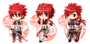 Elsword Key-ring Project: Elboy all class by noirjung