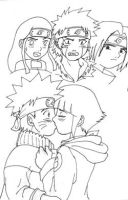 Naruto and Hinata Kiss by Pia-sama