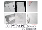 Copypaper 30 Textures 100x100 by she-rockstar