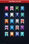 Social Ribbon Icons by Beneyto93
