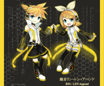 Kagamine RinLen Append chibi by Na-Nami