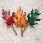 Fall Oak Hair Slides by Beadmask