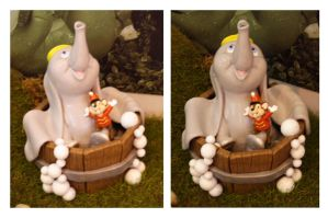 Dumbo and Timothy mouse Water Feature Prototoype by FantasyCharacterz