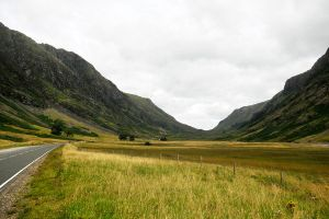 Scottish highland valley 1 by wildplaces