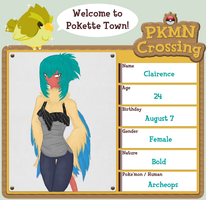 PKMN-Crossing App - CLAIRENCE by Nekayne