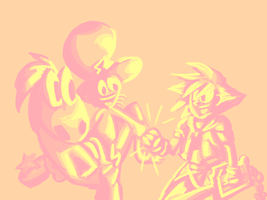 KH and WoY - High Five! by Ginny-N