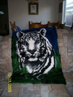 Tiger Latch Hook by Joce-in-Stitches