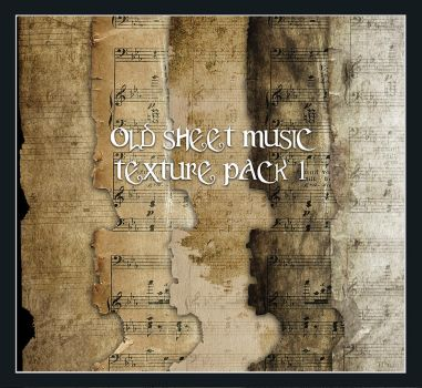 Old Sheet Music Pack 1 by Inadesign-Stock