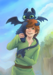 Hiccup TIBI toothless by hiraco
