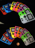 Mini Gameboy colors ::Perler Beads:: by Kin-Karo
