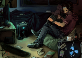 I'd rather be gaming by 3aminspiration