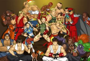 Street Fighters in your living room! by TixieLix