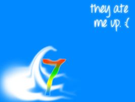 Windows 7 ate up wallpaper by sapphirepsg