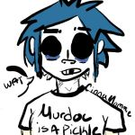 Murdoc is a pickle by CinnaMommie