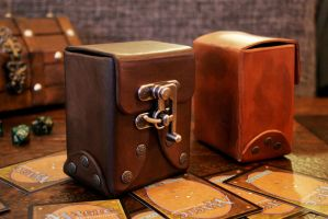 Leather Card Deck Box by VestriProductions
