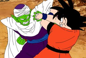 Rematch- Goku vs Piccolo Jr by MargaritaTaichou