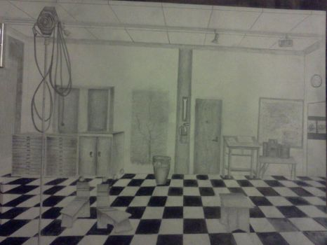 2D Room Perspective Drawing by GracePaste